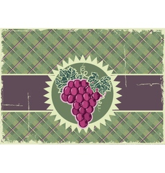 Grapes label background vector image vector image
