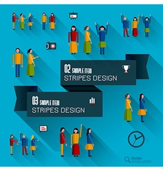 Set Of Icons and people vector image vector image