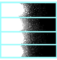 spray paint banner detail in white over black vector image