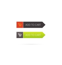 Add to cart button with shopping icon vector image vector image
