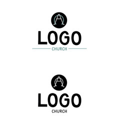 church logo with the alpha and omega vector image