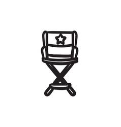 Director chair sketch icon vector