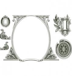money ornaments vector image vector image