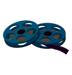 Reels movies isometric 3d icon vector image