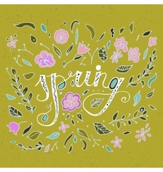 Stylish floral card in bright summer colors vector image vector image