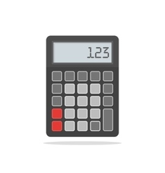 Top View of Black Calculator on vector image vector image