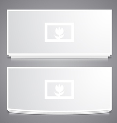 Two Photo Frames vector image vector image