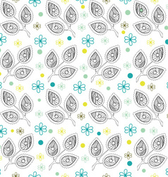 White Leaves Endless Seamless Pattern vector image vector image