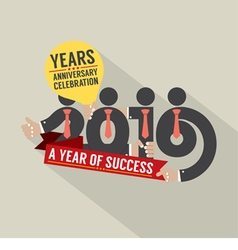 2016 A Year Of Success vector image vector image