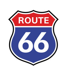66 route sign icon road 66 highway vector