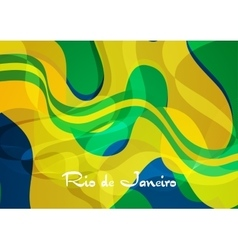 Abstract concept wavy pattern Brazil background vector image