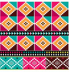 African kente textile seamless pattern vector