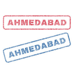 Ahmedabad textile stamps vector