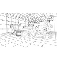 Assembly motor vehicle vector