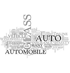Auto glass for your vehicle text word cloud vector