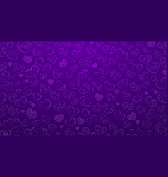background of small hearts vector image