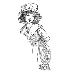 Betsy ross girl vintage vector