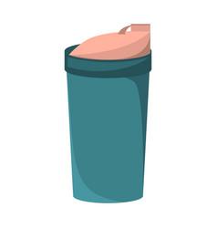 blank plastic bottle for water vector image
