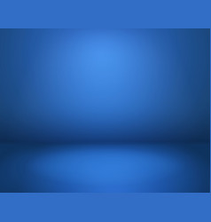 blue studio background empty blue room in vector image