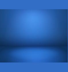 Blue studio background empty room vector