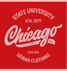 chicago textured design for t shirt vector image