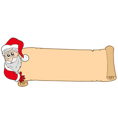 Christmas banner with santa claus vector