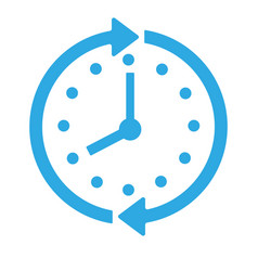 clock icon isolated on background modern simple f vector image