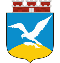 Coat of arms of sopot in pomeranian voivodeship vector