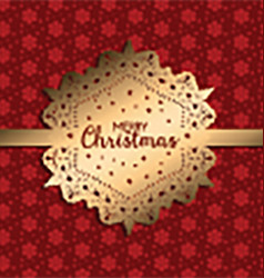 decorative christmas background 1711 vector image