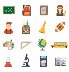Education Flat Set vector