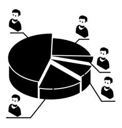 Election diagram icon simple style vector