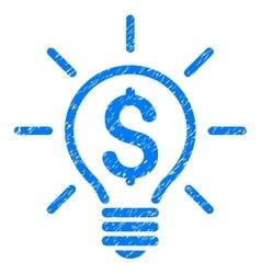 Electric Light Price Grainy Texture Icon vector