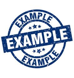 Example blue round grunge stamp vector