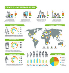 Family statistics infographics with vector