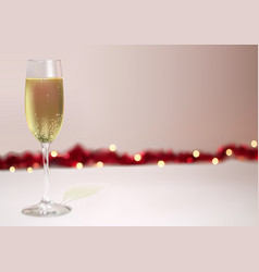 festive background with champagne glass vector image