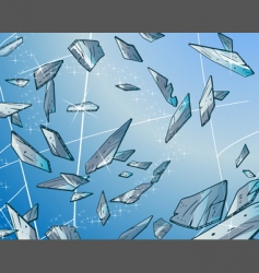 Glass fragments vector