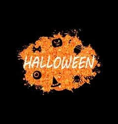 Glowing Orange Template for Happy Halloween Party vector