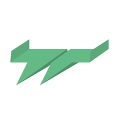 Green paper plane air free fun vector