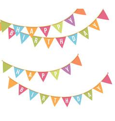 happy birthday bunting vector image