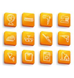 home appliances buttons vector image