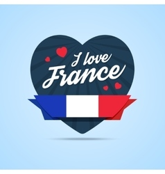 I love France badge vector image