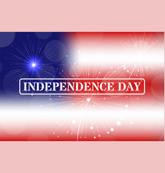Independence day stamp on blurred background vector