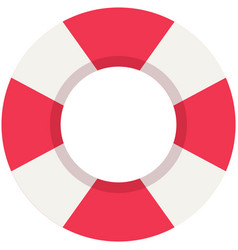 inflatable lifebuoy with red and white vector image