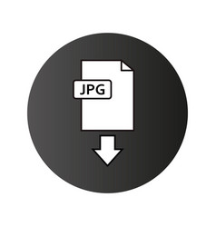 jpeg download icon vector image