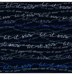 Let it snow pattern vector