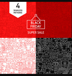 line black friday patterns vector image