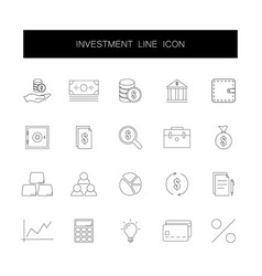 line icons set investment pack vector image