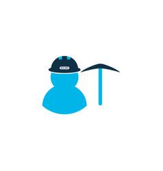Miner icon colored symbol premium quality vector