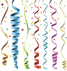 Multicolor Curling Stream vector
