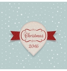 New Year or Christmas white paper Sticker vector